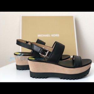 Michael Kors Shoes - 🇺🇸Michael Kors Gillian Mid Wedge Leather Sandals